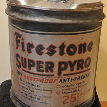 "Firestone ""Super Pyro"" Coolant/Antifreeze Can - Petroliana"