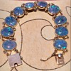 My Victorian 14K Gold Black Opal Bracelet and Antique Jewelry
