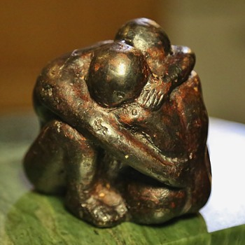 Unsigned Bronze of Couple Consoling Each Other