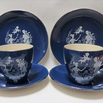 Sandland Pottery Cup and Saucers - China and Dinnerware
