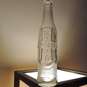 1920's? Howdy Soda Bottle Connellsville, Pennsylvania Antique Embossed Glass Clear Vintage 6.5 Ounces - Bottles
