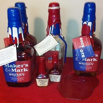 """MAKER'S MARK Kentucky Bourbon """"ROCK THE VOTE"""" campaign bottles - Bottles"""