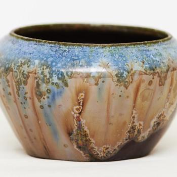 Bowl with crystalline glaze, ca. 1920, German? - Pottery