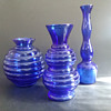 Cobalt USA marked vases