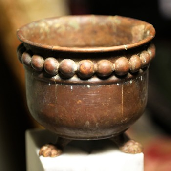 Tiny Bronze Cachepot - Arts and Crafts