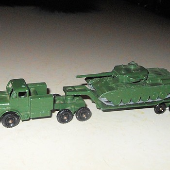 Memorial Day Matchbox Monday Major Pack M-3 50 Ton Tank Transporter And Centurian Tank Mk III - Model Cars