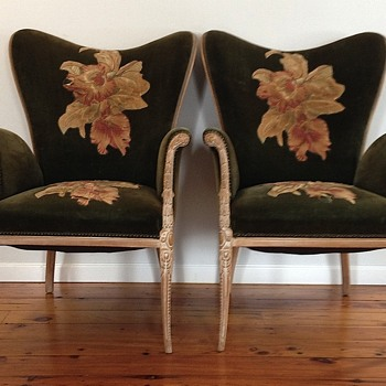 Art Deco Hollywood Regency chairs
