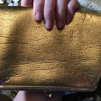 Metallic Gold Clutch  - Bags