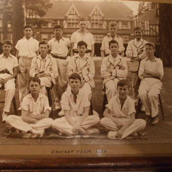 Cricket Team 1934 From Royal Grammar School in Guilford, England - Photographs