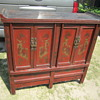 antique Chinese red buffet sideboard cabinet?