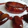 Rare bakelite choker panel necklace