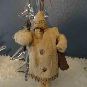 Cotton Santa with scrap face - Christmas