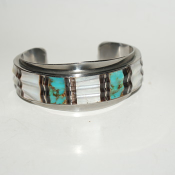 Mystery Cuff Bracelet - At least It's a Mystery to Me - Costume Jewelry