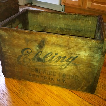Beer Crates - Ebling Brewing Co., Inc.  &  Frank Jones Ale  - Breweriana