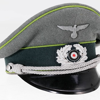 Rare Third Reich Panzergrenadier Officer's peaked cap - Military and Wartime