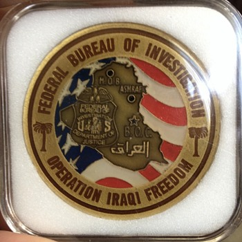 "FBI "" Operation Iraqi Freedom"" Challenge Coin"
