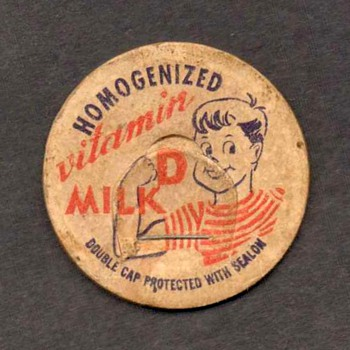 Milk Bottle Cardboard Cap - Advertising