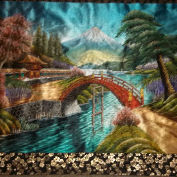 """Approx 33"""" x 24 Silk Wall Hanging...........I don't know much. Its silk...and photos will be replaced with natural light"""
