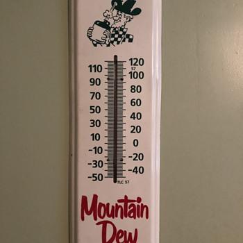 Mountain Dew Soda Thermometer  - Advertising
