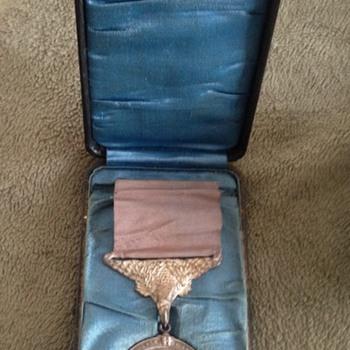 Rare U.S. Coastguard Life Saving Silver Medal/Award with Box - Military and Wartime
