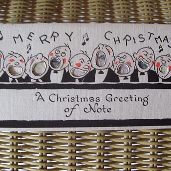 CHRISTMAS 1920  W/ FORGOTTEN SURPRISE INSIDE! - Cards