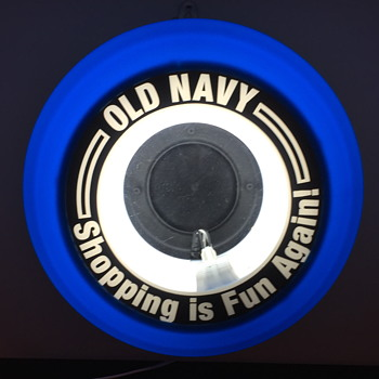 Old Navy light up sign. - Signs
