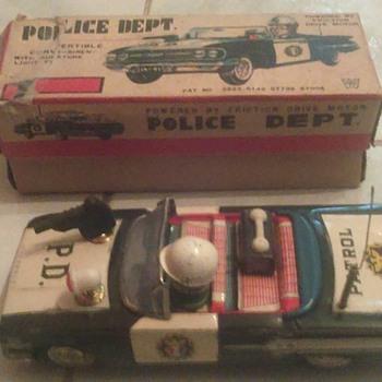 """Ichiko"" Japan Police Dept Car w/box HTF - Toys"