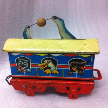 Clockwork articulated Bub Circus train set - Model Trains