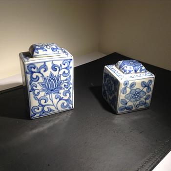 Chinese jar tea caddy - Asian