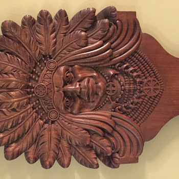 Carved Native American Chief
