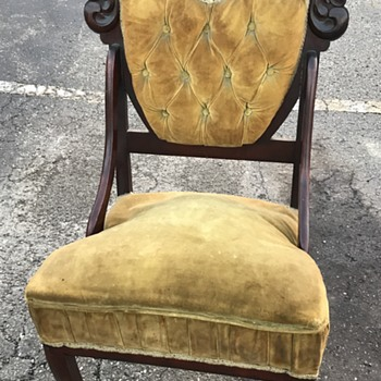 MY ANTIQUE CHAIR..I JUST FOUND..