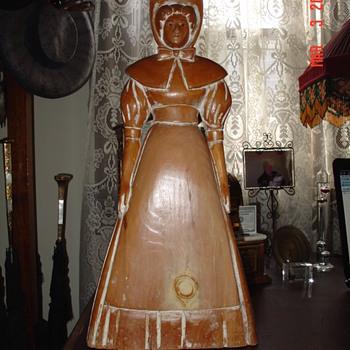 Pilgrim Or Quaker Folk Art Wood Figure  - Folk Art