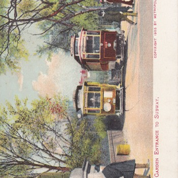Old Boston Trolley Postcards Haymarket Sq. Coca Cola Sign drugstore - Railroadiana