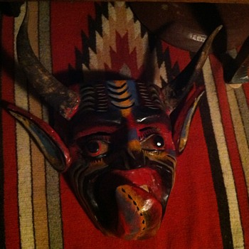 This is my Mexican mask devil  - Fine Art