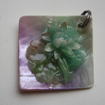 Waterlily pendant - Costume Jewelry