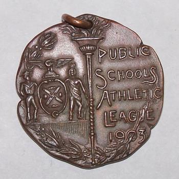 A 1903 Public School athletic League Medal.