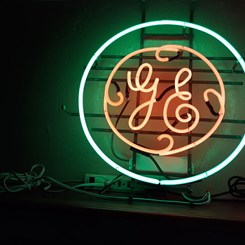 GE neon appliance sign - Signs