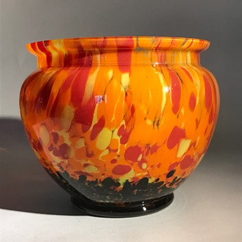 Czech Bohemian Glass Bowl - Art Glass