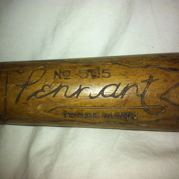 "Pennant No. 505 ""Knock Out"" Antique Baseball Bat - Baseball"