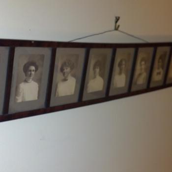 Vintage Framed Photographs of Nine Women - Photographs