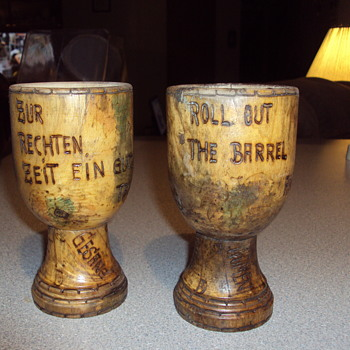 Old Wooden Goblet's - Folk Art