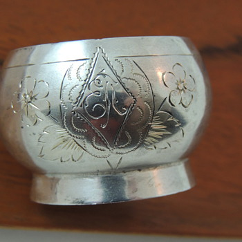 Russian/Prussian Silver or French Silver Plate Salt Cellar - Silver