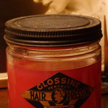 Art Deco Glossine Perfect Hair Dressing Jar - Accessories