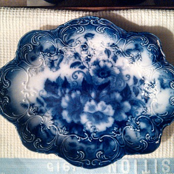Myotts Flow Blue Porcelain, After a Century of Wear - China and Dinnerware