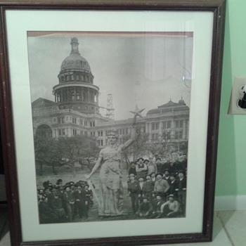 Goddess Of Liberty Austin Texas 1880's - Photographs