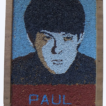 Original 1964 Beatles Folk Art of Paul McCartney - Folk Art