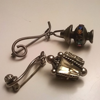 Fun Lantern Pins/Brooches, 1930s or 1940s - ? - Costume Jewelry