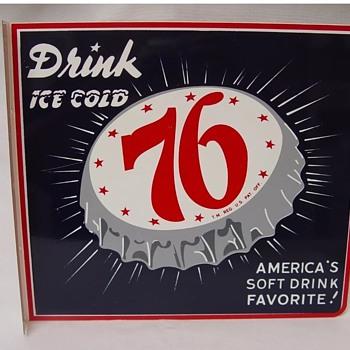 76 soda pop flange sign  - Signs