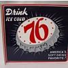 76 soda pop flange sign