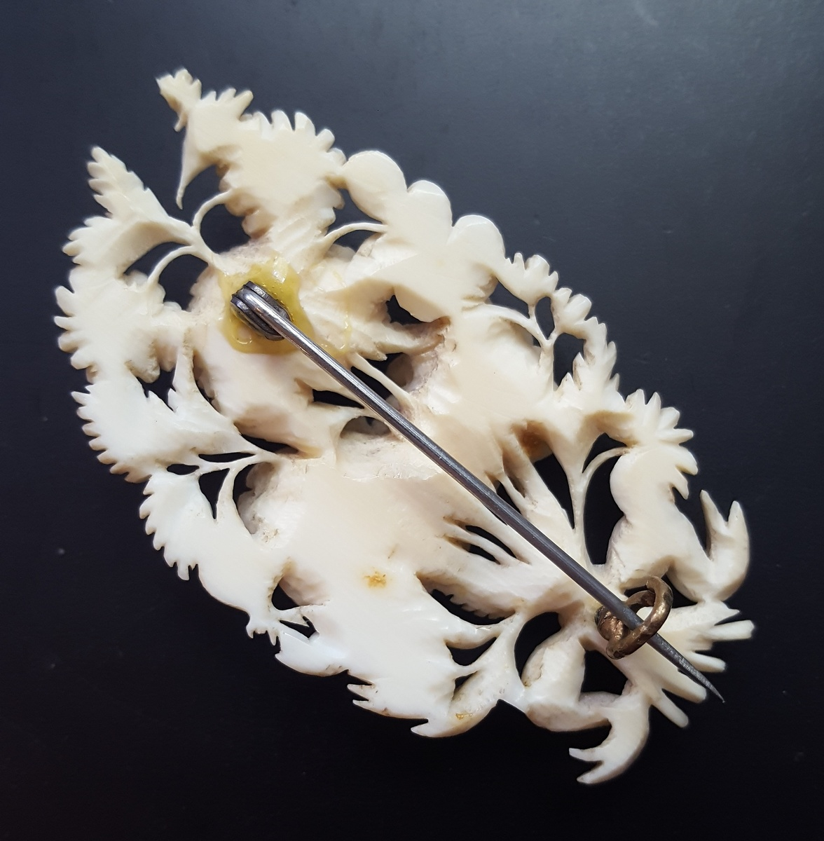 Antique Dieppe ivory bouquet brooch  | Collectors Weekly